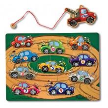 Melissa & Doug 13777 Gra magnetyczna holowanie autek