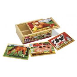 Melissa & Doug Puzzle w Pudełku - Zwierzęta z Farmy 13793