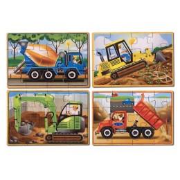 Melissa & Doug Puzzle Drewniane Budowa 4 wzory 13792