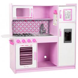 Melissa & Doug - Drewniana, różowa kuchnia z wyposażeniem - 14002