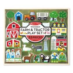 Melissa & Doug - Zestaw drewniany Farma - 33 elementy 14800