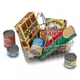 Melissa & Doug - Metalowy koszyk zakupowy z artykułami spożywczymi - 15171