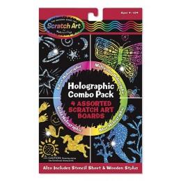 Melissa & Doug 15806 Zdrapki Holograficzne Błyszczące Combo - Scratch Art