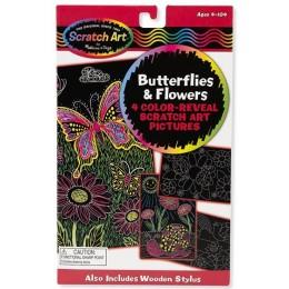 Melissa & Doug 15956 Zdrapki tęczowe - Motyle i Kwiaty