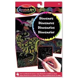 Melissa & Doug 15957 Zdrapki tęczowe - Dinozaury