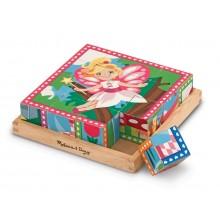 Melissa & Doug 19040 Drewniane Puzzle Księżniczki Wróżki