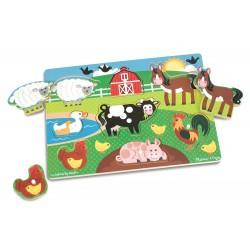 Melissa & Doug 19050 Układanka Puzzle Zwierzęta Farma
