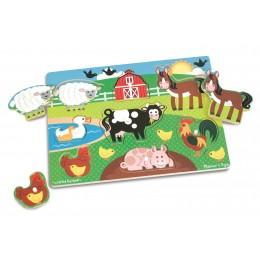 Melissa & Doug Układanka Puzzle Zwierzęta Farma 19050