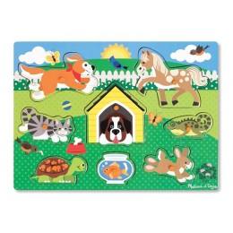 Melissa & Doug 19053 Układanka Puzzle  Zwierzęta Pupile