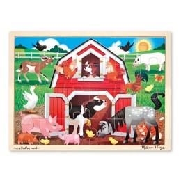 Melissa & Doug 19061 Układanka Puzzle Gospodarstwo ze Zwierzętami