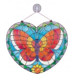Melissa & Doug 19295 Barwione szkło - Witraż Motyl