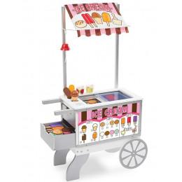 Melissa & Doug - Budka z jedzeniem - Wózek z lodami i hot dogami - 19350