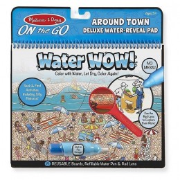 Melissa & Doug - Wodna kolorowanka z lupą - Water Wow! - Miasto 19457