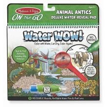 Melissa & Doug - Wodna kolorowanka z lupą - Water Wow! - Zwierzęta 19463