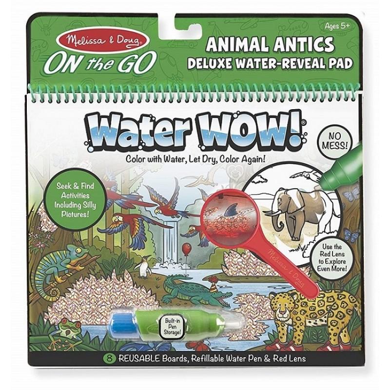 Melissa Doug Wodna Kolorowanka Z Lupą Water Wow Zwierzęta