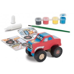 Melissa & Doug 19524 Pojazd Monster Truck do Ozdabiania