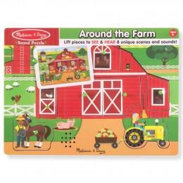 Melissa & Doug - Puzzle dźwiękowe - Na farmie 42800