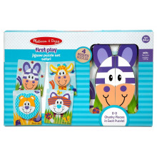 Melissa & Doug - First Play - Drewniane puzzle Safari – 40131