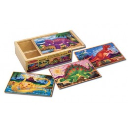 Melissa & Doug 13791 - Puzzle w pudełku - diznozaury