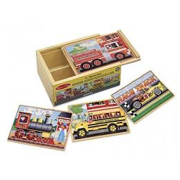 Melissa & Doug - Puzzle w pudełku - pojazdy 13794