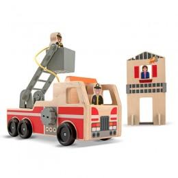Melissa & Doug 14525 Drewniana Straż Pożarna z Dodatkami