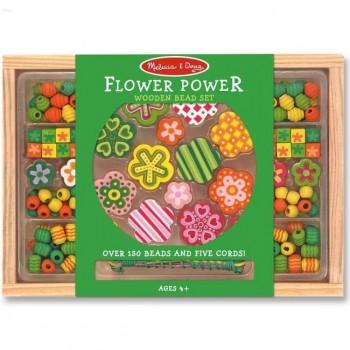Melissa & Doug Drewniane Koraliki do Nawlekania Kwiaty 14178