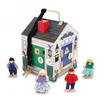 Melissa & Doug Drewniany Domek z Kluczami i Dzwonkami 12505