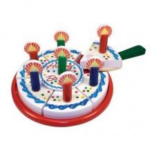 Melissa & Doug Drewniany Tort Urodzinowy Do Krojenia 10511