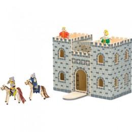 Melissa & Doug Drewniany Zamek Rozkładany z Figurkami 13702