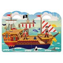 Melissa & Doug Naklejki Wielokrotnego Użytku 3D Piraci 19102