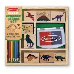 Melissa & Doug 11633 Drewniane Pieczątki Dinozaury