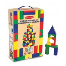Melissa & Doug 10481 Zestaw 100 Drewnianych Klocków