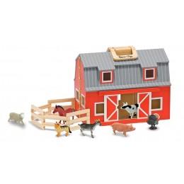Melissa & Doug 13700 Drewniana Stajnia Farma ze Zwierzątkami
