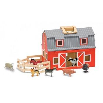Melissa & Doug Drewniana Stajnia Farma ze Zwierzątkami 13700