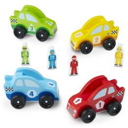 Drewniane pojazdy i figurki
