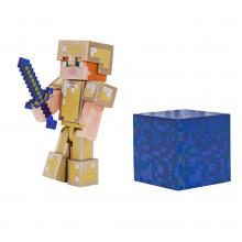Minecraft - Alex  w złotej zbroi - Figurka 19970