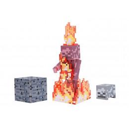 Minecraft - Szkielet w płomieniach - Figurka z dodatkami 19974