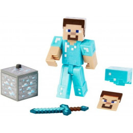 Mattel Minecraft - Figurka z akcesoriami - Steve w diamentowej zbroi GCC20