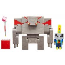 Minecraft Dungeons – Zestaw figurek: Arcyzłosadnik i Golem z Czerwonego Kamienia GND38