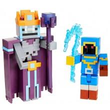 Minecraft Dungeons – Zestaw figurek: Stax z lochów kontra Szkielet Nekromanta GVL30