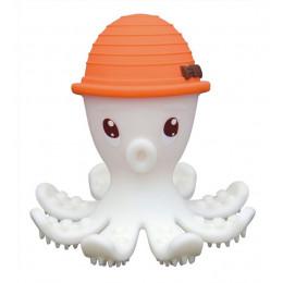 Mombella - Gryzak silikonowy - Ośmiornica w kapeluszu pomarańczowym - P8034