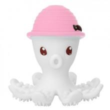Mombella - Gryzak silikonowy - Ośmiornica w kapeluszu różowym - P8077