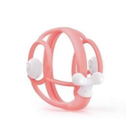Mombella – Silikonowy gryzak - Różowy ślimak 2w1 P8082-1