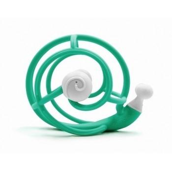 Mombella – Silikonowy gryzak - Turkusowy ślimak 2w1 P8082-2