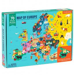 Mudpuppy - Mapa Europy Puzzle - Układanka edukacyjna 70 el. - 51943