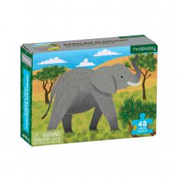 Mudpuppy - Mini puzzle 48 el. - Słoń afrykański 57136
