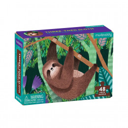 Mudpuppy - Mini puzzle 48 el. - Leniwiec 57150
