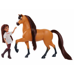 Mustang Spirit: Riding Free - Lucky i Spirit - Figurka i koń 39050 39051