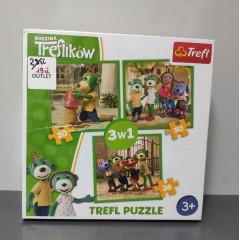 OUTLET - Trefl Duopack Trefliki 3w1 + Chińczyk - 90962