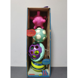 OUTLET - B. Toys Zestaw 4 piłek sensorycznych - BX1462